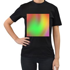 November Blurry Brilliant Colors Women s T-Shirt (Black) (Two Sided)