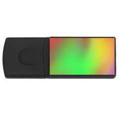 November Blurry Brilliant Colors USB Flash Drive Rectangular (4 GB)