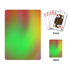 November Blurry Brilliant Colors Playing Card