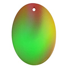 November Blurry Brilliant Colors Oval Ornament (Two Sides)