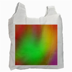 November Blurry Brilliant Colors Recycle Bag (one Side)