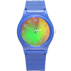 November Blurry Brilliant Colors Round Plastic Sport Watch (S)