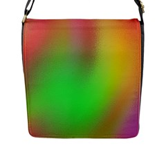 November Blurry Brilliant Colors Flap Messenger Bag (L)