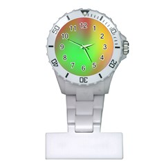November Blurry Brilliant Colors Plastic Nurses Watch
