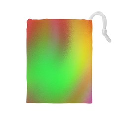 November Blurry Brilliant Colors Drawstring Pouches (Large)
