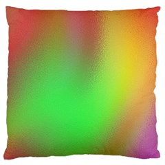 November Blurry Brilliant Colors Large Flano Cushion Case (One Side)
