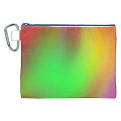 November Blurry Brilliant Colors Canvas Cosmetic Bag (XXL)