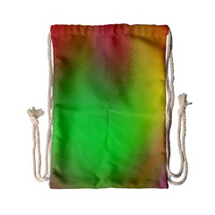 November Blurry Brilliant Colors Drawstring Bag (small)