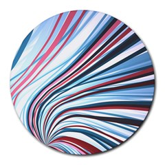 Wavy Stripes Background Round Mousepads