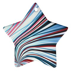 Wavy Stripes Background Ornament (star)