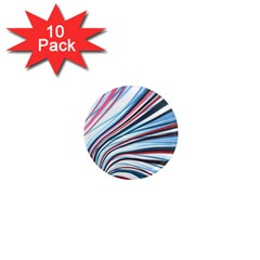 Wavy Stripes Background 1  Mini Magnet (10 Pack)