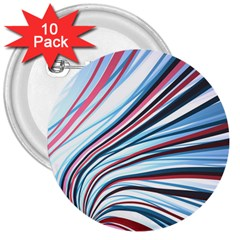 Wavy Stripes Background 3  Buttons (10 pack)