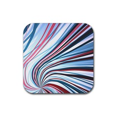 Wavy Stripes Background Rubber Coaster (square)