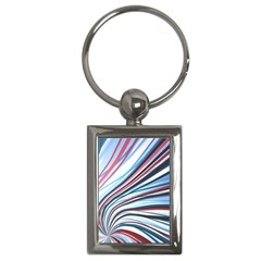 Wavy Stripes Background Key Chains (rectangle)
