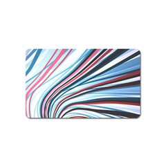 Wavy Stripes Background Magnet (name Card)