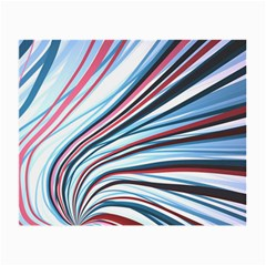 Wavy Stripes Background Small Glasses Cloth