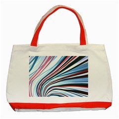 Wavy Stripes Background Classic Tote Bag (red)