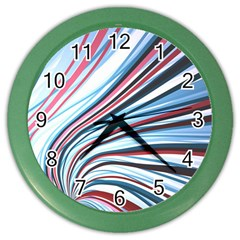 Wavy Stripes Background Color Wall Clocks