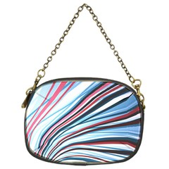 Wavy Stripes Background Chain Purses (two Sides)