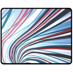 Wavy Stripes Background Fleece Blanket (medium)