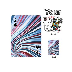 Wavy Stripes Background Playing Cards 54 (mini)