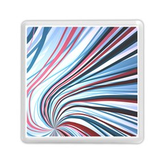Wavy Stripes Background Memory Card Reader (square)