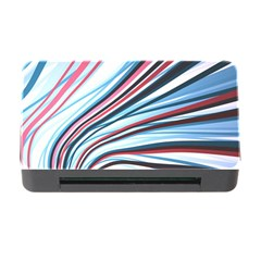 Wavy Stripes Background Memory Card Reader with CF