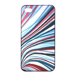 Wavy Stripes Background Apple Iphone 4/4s Seamless Case (black)