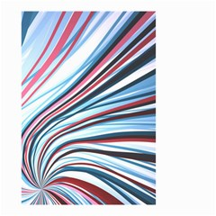 Wavy Stripes Background Small Garden Flag (Two Sides)