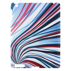 Wavy Stripes Background Apple iPad 3/4 Hardshell Case