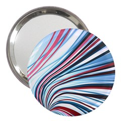 Wavy Stripes Background 3  Handbag Mirrors