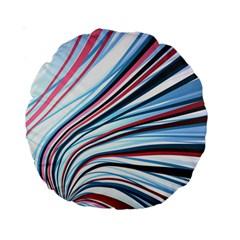 Wavy Stripes Background Standard 15  Premium Round Cushions