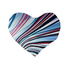 Wavy Stripes Background Standard 16  Premium Heart Shape Cushions