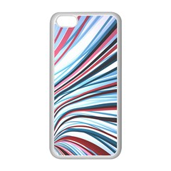 Wavy Stripes Background Apple Iphone 5c Seamless Case (white)