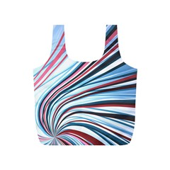 Wavy Stripes Background Full Print Recycle Bags (S)