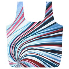 Wavy Stripes Background Full Print Recycle Bags (L)