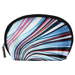 Wavy Stripes Background Accessory Pouches (Large)