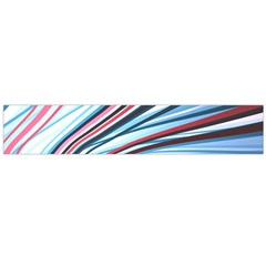 Wavy Stripes Background Flano Scarf (Large)