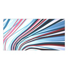 Wavy Stripes Background Satin Shawl