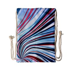 Wavy Stripes Background Drawstring Bag (small)