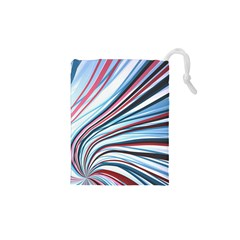 Wavy Stripes Background Drawstring Pouches (xs)