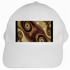 Space Fractal Abstraction Digital Computer Graphic White Cap