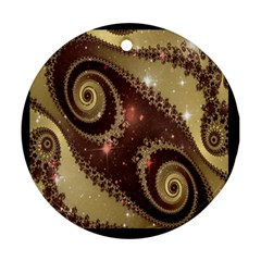 Space Fractal Abstraction Digital Computer Graphic Ornament (Round)