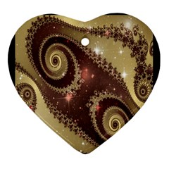 Space Fractal Abstraction Digital Computer Graphic Ornament (heart)