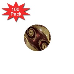 Space Fractal Abstraction Digital Computer Graphic 1  Mini Buttons (100 pack)