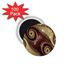 Space Fractal Abstraction Digital Computer Graphic 1 75  Magnets (100 Pack)