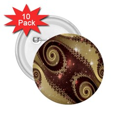 Space Fractal Abstraction Digital Computer Graphic 2.25  Buttons (10 pack)