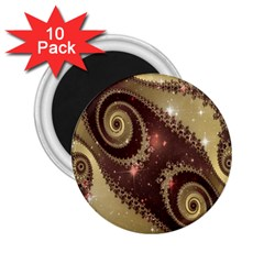 Space Fractal Abstraction Digital Computer Graphic 2 25  Magnets (10 Pack)