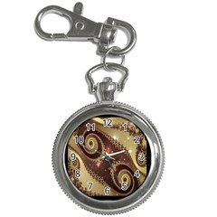 Space Fractal Abstraction Digital Computer Graphic Key Chain Watches