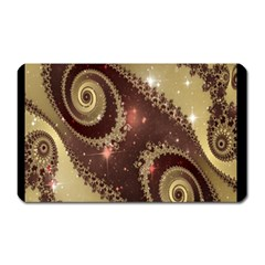 Space Fractal Abstraction Digital Computer Graphic Magnet (Rectangular)